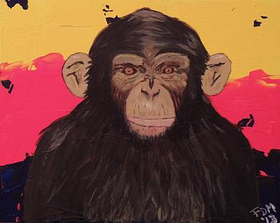 Painting - Chimp In Prime by Frank Middleton