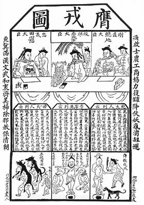 Discrimination Drawing - China - Anti-christian by Granger