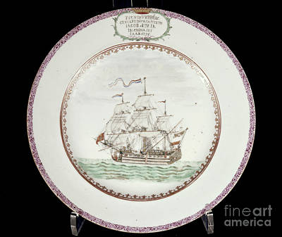 China - Dutch Ship 1756 Art Print by Granger