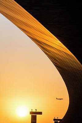 China, Beijing, Setting Sun Lights Art Print by Paul Souders