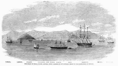 Painting - China British Fleet, 1860 by Granger