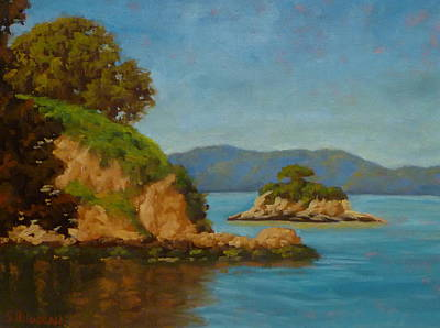 China Camp And Rat Island Art Print by Steven Guy Bilodeau