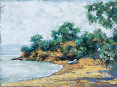 Painting - China Camp Beach by Dena Cornett