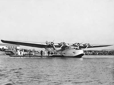 Airways Photograph - China Clipper Seaplane by Underwood Archives