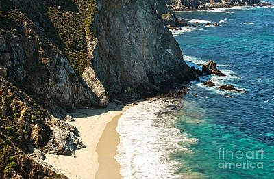Photograph - China Cove At Point Lobos State Beach by Artist and Photographer Laura Wrede