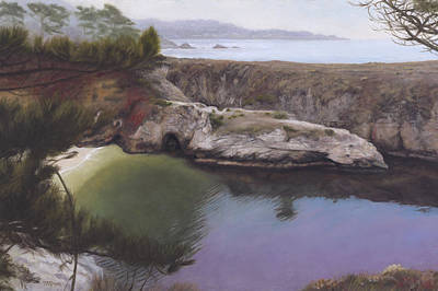 Point Lobos Painting - China Cove by Terry Guyer