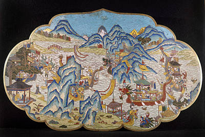 Plaque Painting - China Decorative Plaque by Granger