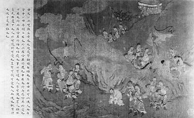 Ancient Scroll Painting - China Duke And Generals by Granger