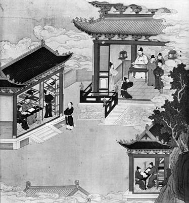 7th Century Painting - China Emperor & Scholars by Granger