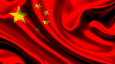 Flag Photograph - China Flag by VRL Art