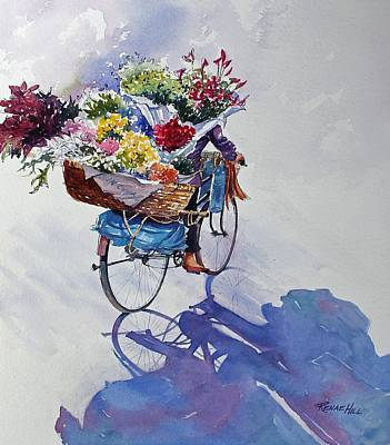 China Florist Art Print