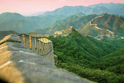 Great Wall Photograph - China, Huairou County, Sunrise by Miva Stock