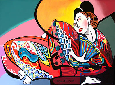 China Lady Art Print by Anthony Falbo