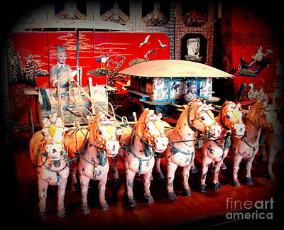 Photograph - China Museum Horses by John Potts