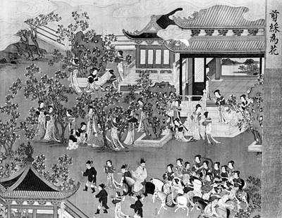 7th Century Painting - China Palace Gardens by Granger