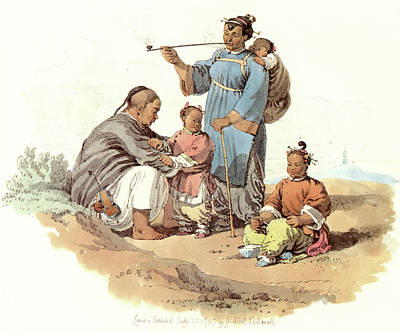 Chinese Peasant Painting - China Peasant Family, 1797 by Granger