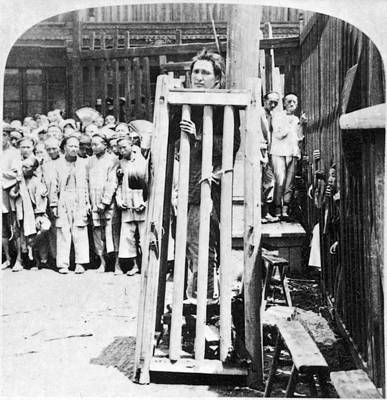 Cage Painting - China Punishment, C1900 by Granger