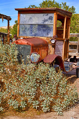Art Print featuring the photograph China Ranch Truck by Jerry Fornarotto