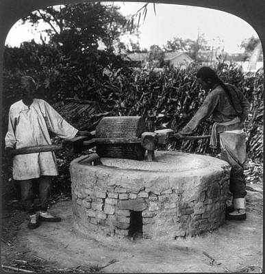 Old Grinders Painting - China Seed Grinding, C1907 by Granger
