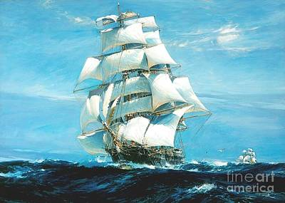 China Tea Clippers Art Print by Pg Reproductions
