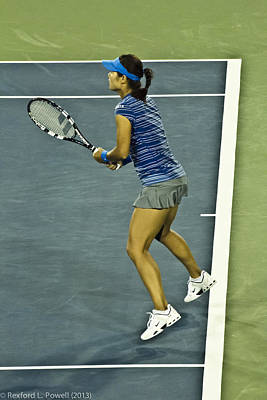 China Tennis Star Li Na Print by Rexford L Powell
