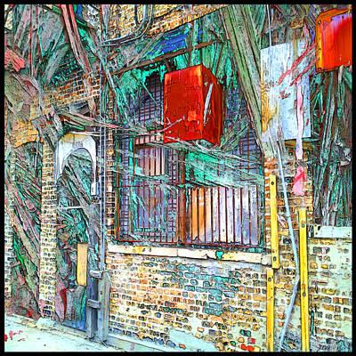 Digital Art - China Town Mesh by Zac AlleyWalker Lowing