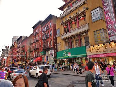 Photograph - China Town Nyc by Robin Coaker