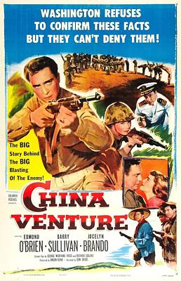 Films By Don Siegel Photograph - China Venture, Us Poster, Barry by Everett