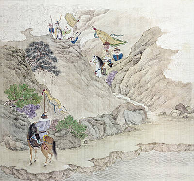Painting - China Warriors, C1820 by Granger