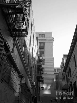 Photograph - Chinatown Alley San Francisco In True Bw by Connie Fox