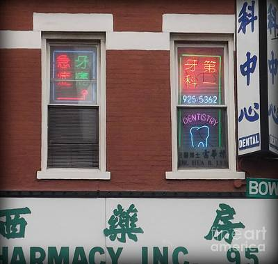 Photograph - Chinatown Dentist - Ny by Miriam Danar