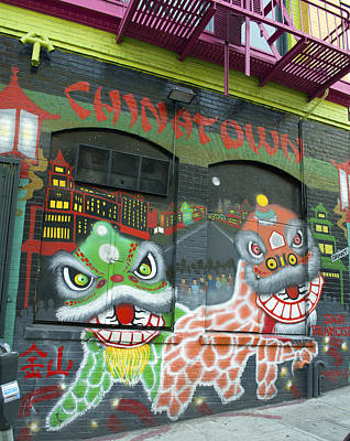 Photograph - Chinatown Foo Dog Mural by Christopher Winkler