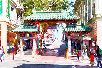 Photograph - Chinatown Gate On Grant Avenue In San Francisco 7d7193wcstyle by Wingsdomain Art and Photography