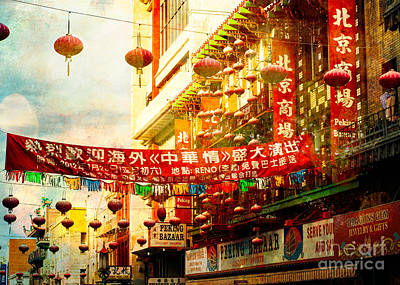 Texture Photograph - Chinatown In The Sun by Sonja Quintero