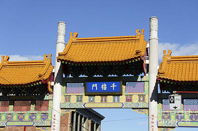 Photograph - Chinatown Millennium Gate Vancouver by John  Mitchell