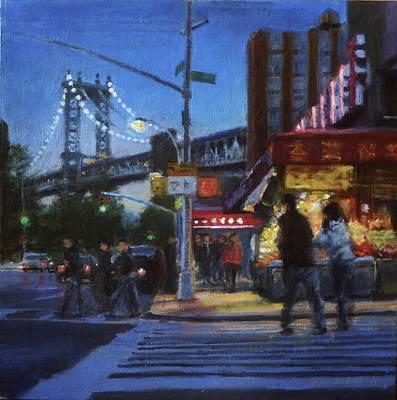 Chinatown Nocturne Art Print