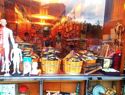Photograph - Chinatown Nyc Herb Shop by Joan Reese