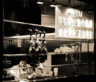 Chinatown Restaurant New York City Art Print by Dan Sproul