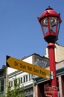 Photograph - Chinatown Sign Vancouver by John  Mitchell