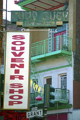 Photograph - Chinatown Souvenir Shop by Christopher Winkler