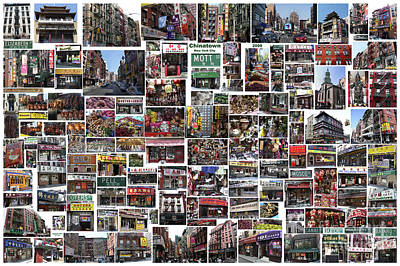 Print featuring the digital art Chinatown  by Steven Spak