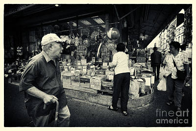 Chinatown Streetlife New York City Art Print by Sabine Jacobs