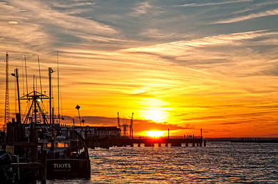 Chincoteague Bay Sunset Art Print