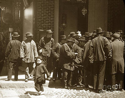 Photograph - Chinese American Man With Queue San Francisco Chinatown Circa 1900 by California Views Archives Mr Pat Hathaway Archives
