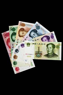 Mao Zedong Wall Art - Photograph - Chinese Banknotes by Tim Lester/science Photo Library