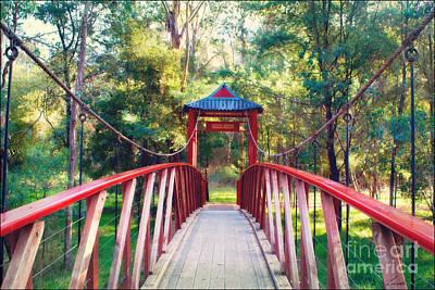 Chinese Bridge Wandiligong Art Print by Linda Lees