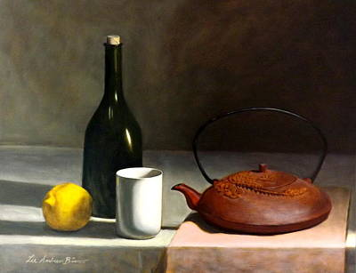 Teapot Painting - Chinese Cast Iron Teapot by Lee Bianco