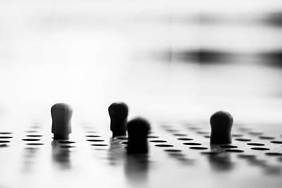 Peg Game Photograph - Chinese Checkers by Steve Johnson