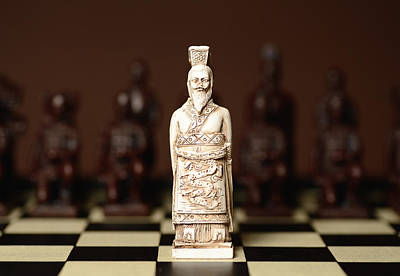 Chinese Chess King Art Print by Dick Wood