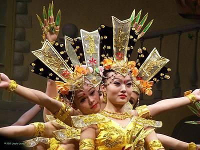 Chinese Dancers Perform Thousand Hands Guan Yin Art Print